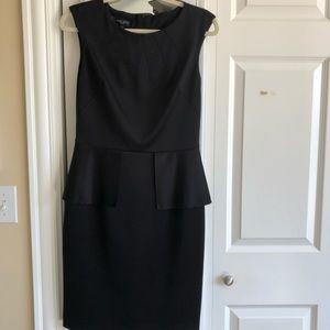 Nine West black peplum dress